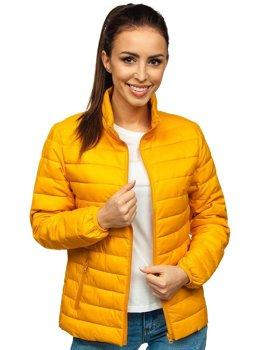 Кэмел женская стеганая демисезонная куртка Bolf 20311