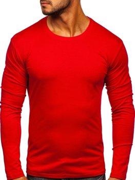 Лонгслив мужской без принта красный Bolf 2088L