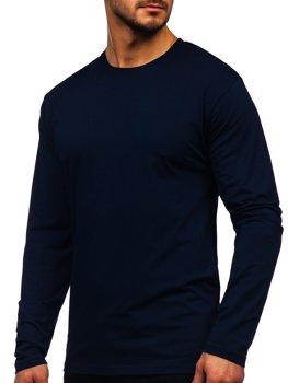 Лонгслив мужской без принта темно-синий Bolf 172007