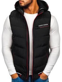 Мужская безрукавка с капюшоном черная Bolf 5805