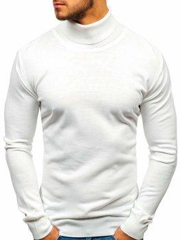 Мужская водолазка белая Bolf 2400