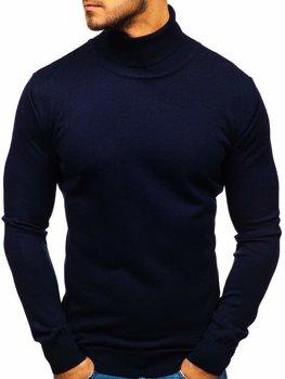 Мужская водолазка темно-синяя Bolf 2400
