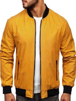 Мужская демисезонная куртка бомбер кэмел Bolf 6115