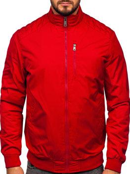 Мужская демисезонная куртка красная Bolf 1907
