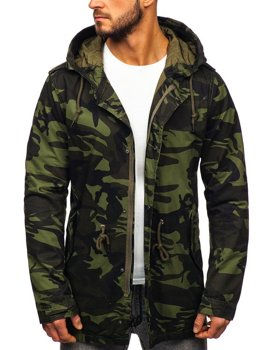 Мужская демисезонная куртка парка хаки Bolf 5391