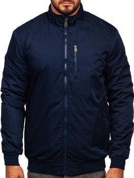 Мужская демисезонная куртка темно-синяя Bolf 1907