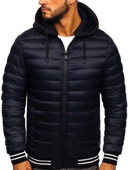 Мужская демисезонная куртка темно-синяя Bolf 5331