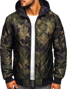Мужская демисезонная спортивная куртка камуфляж-хаки Bolf MY21M