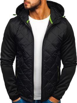 Мужская демисезонная спортивная куртка черная Bolf KS1892