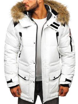 Мужская зимняя куртка белая Bolf 5948