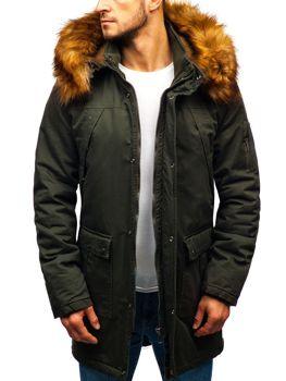 Мужская зимняя куртка парка хаки Bolf R106