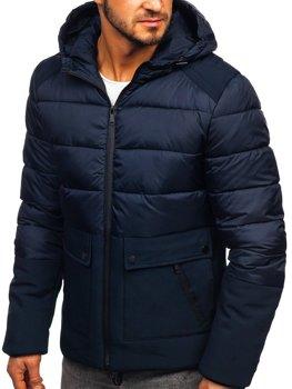 Мужская зимняя куртка темно-синяя Bolf B1280