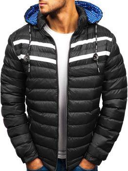 Мужская зимняя куртка черная Bolf A211