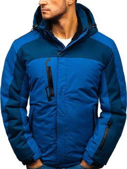 Мужская зимняя лыжная куртка синяя Bolf HZ8112