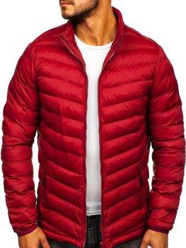 Мужская зимняя спортивная куртка бордовая Bolf SM70