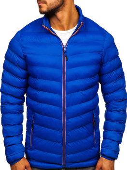Мужская зимняя спортивная куртка синяя Bolf SM71