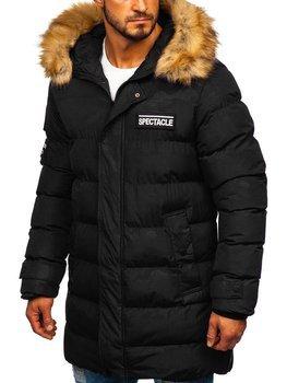 Мужская куртка зимняя парка черная Bolf 5972