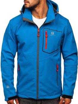 Мужская куртка софтшелл синяя Bolf AB152