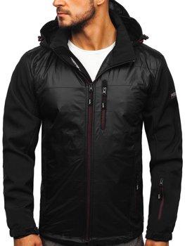 Мужская куртка софтшелл черно-красная Bolf 5680