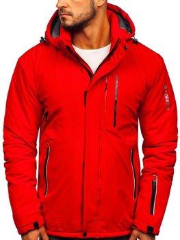 Мужская лыжная куртка красная Bolf 1910