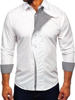 Мужская рубашка с длинным рукавом белая Bolf 5746-А