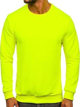 Мужская толстовка без капюшона желтый-неон Bolf 171715