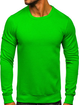 Мужская толстовка без капюшона светло-зеленая Bolf 2001