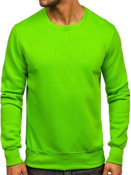 Мужская толстовка без капюшона светло-зеленый Bolf 2001-31
