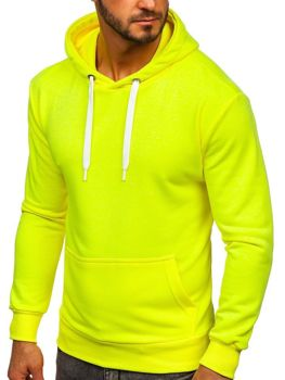 Мужская толстовка с капюшоном желтый-неон Bolf 1004