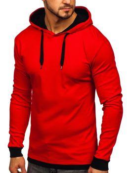 Мужская толстовка с капюшоном красная Bolf 145380