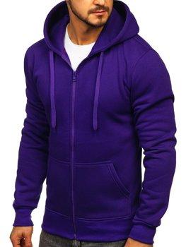 Мужская толстовка с капюшоном фиолетовая Bolf 2008