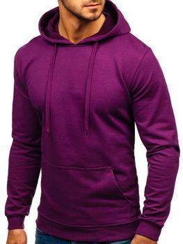Мужская толстовка с капюшоном фиолетовая Bolf 5361