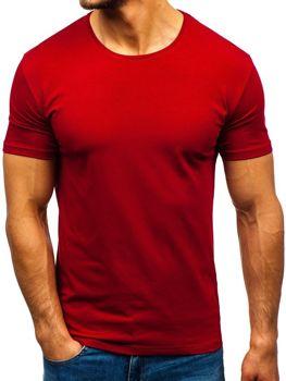 Мужская футболка без принта бордовая Bolf 9001-1