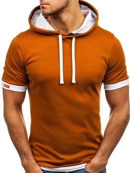 Мужская футболка без принта кэмел Bolf 08