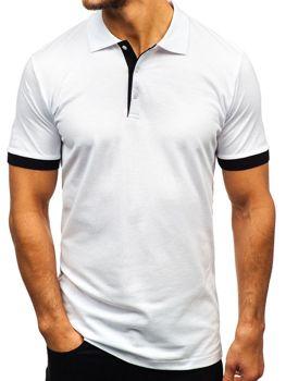 Мужская футболка поло белая Bolf 171222