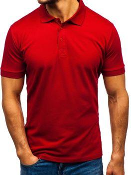 Мужская футболка поло бордовая Bolf 171221