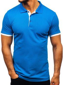 Мужская футболка поло васильковая Bolf 171222