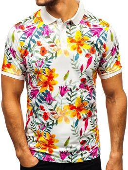 Мужская футболка поло мультиколор Bolf 9012