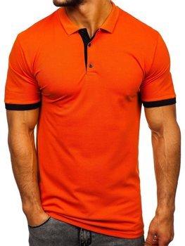 Мужская футболка поло оранжевая Bolf 171222-1
