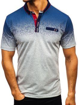 Мужская футболка поло серая Bolf 6599