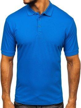 Мужская футболка поло синяя Bolf 171221