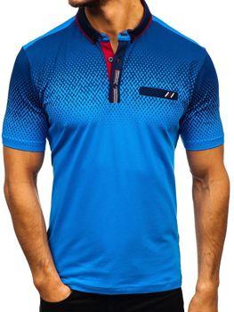 Мужская футболка поло синяя Bolf 6599