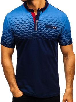 Мужская футболка поло темно-синяя Bolf 6599