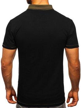 Мужская футболка поло черная Bolf 2058