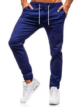 Мужские брюки-джоггеры кобальтовые Bolf 1121
