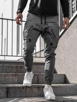 Мужские брюки джоггеры серые Bolf 0956