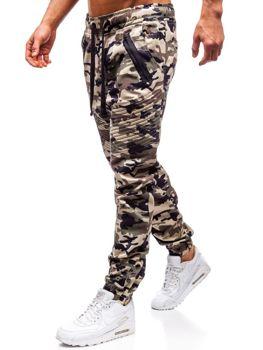 Мужские брюки джогеры бежевые Bolf 0952