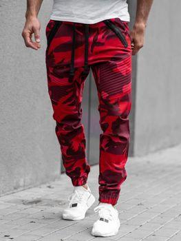 Мужские брюки джогеры красные Bolf 0952