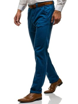 Мужские брюки чиносы синие Bolf 6191