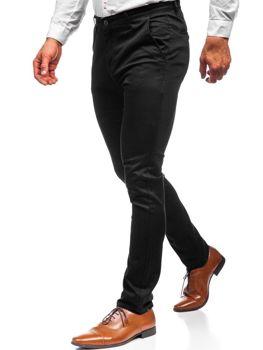 Мужские брюки чинос черные Bolf KA969